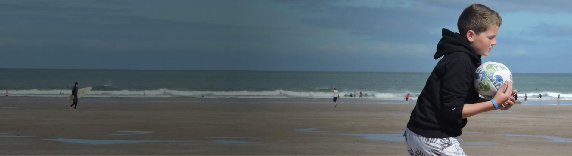 Beach Rugby on Woolacombe Beach