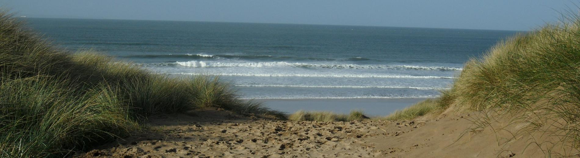 Entrance to Woolacombe Beach
