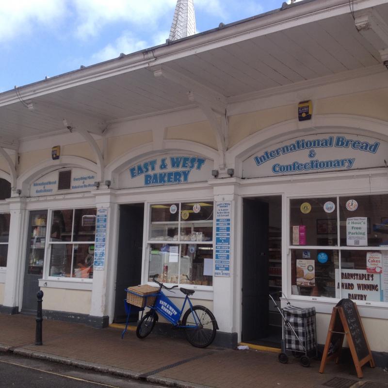 Butchers Row in Barnstaple, North Devon. Barnstaple is our local market town.