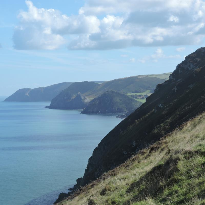 View from the cliff path near Heddon's Mouth