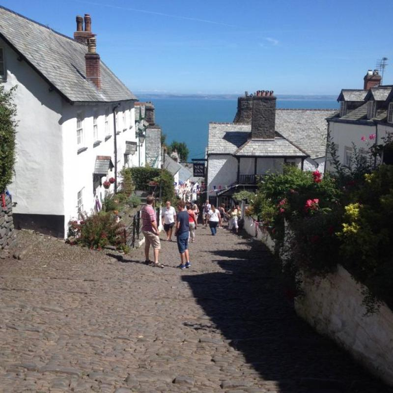 Cobbled Street in the small picturesque village of Clovelly