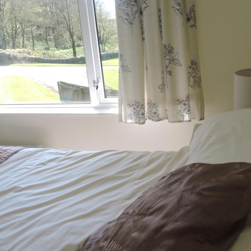 looking out from the double bedroom