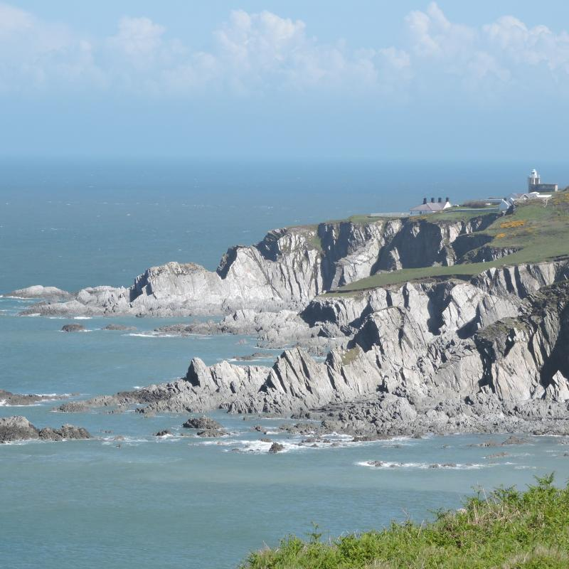 A view from the cliff path near to Mortehoe in North Devon. This is about a 15 minute drive from Spreacombe.