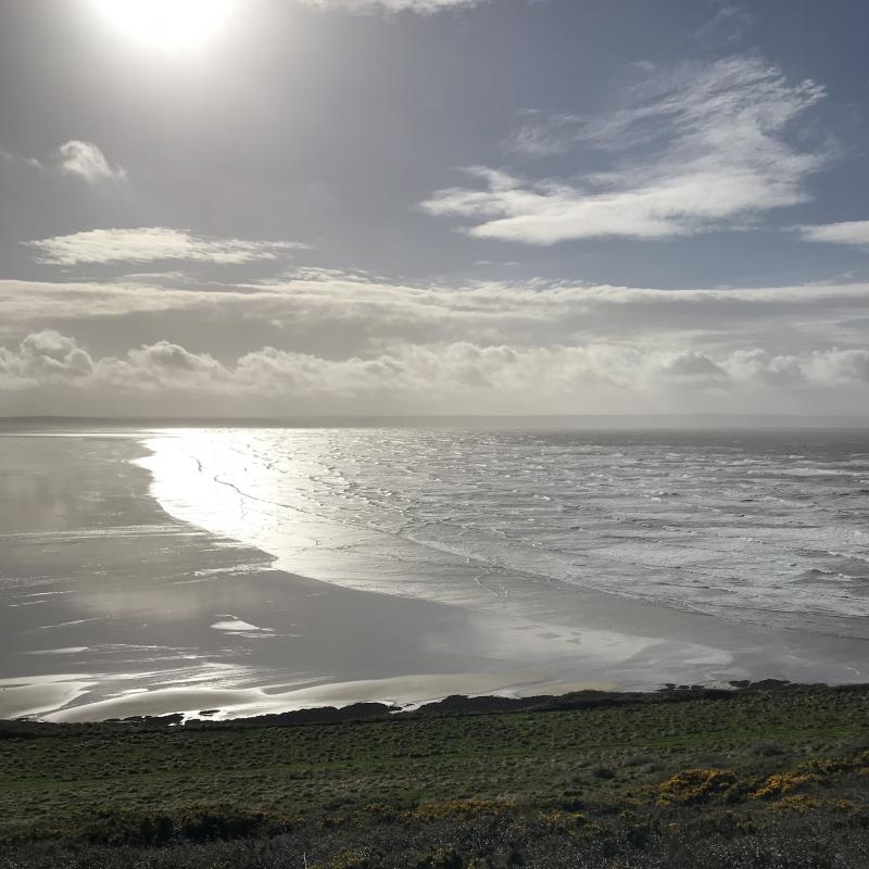 Saunton Sands, view from the road to Croyde