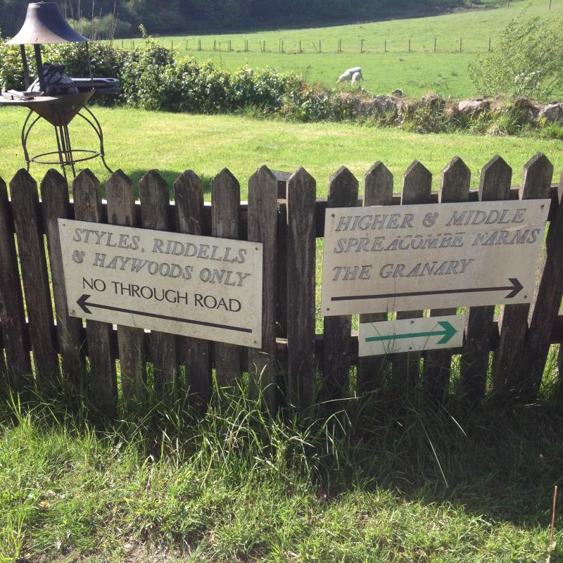 Sign showing the walks near to the holiday cottages