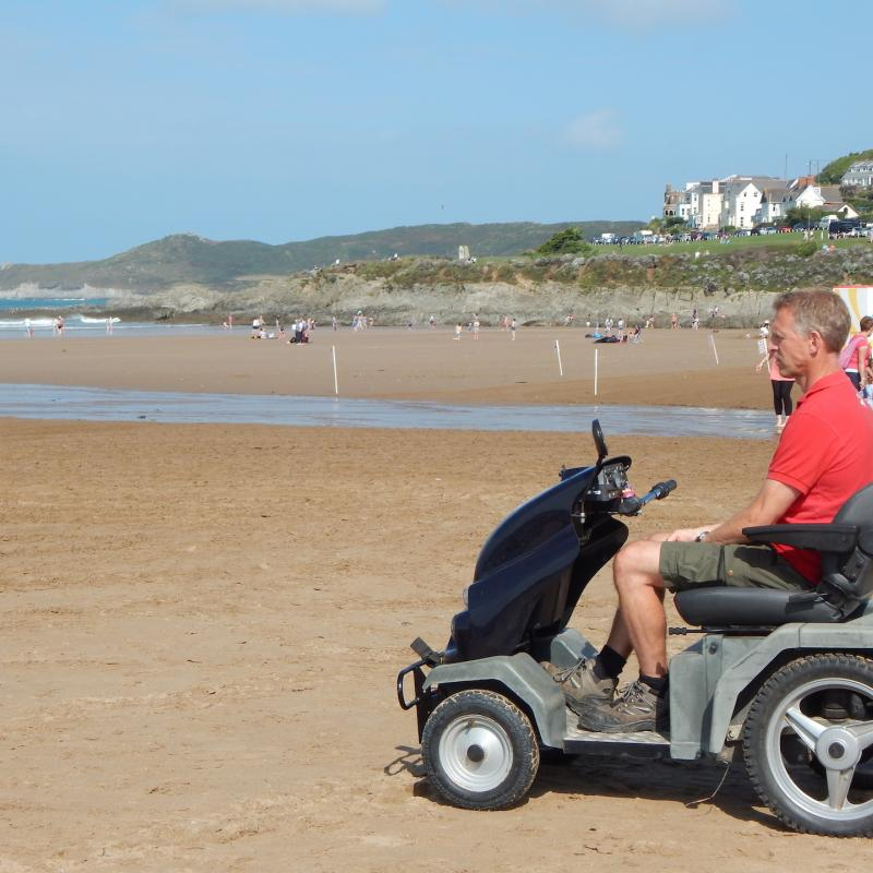 The All Terrain Tramper on Woolacombe Beach