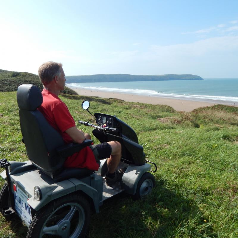 Use of the all terrain tramper on Woolacombe Sand Dunes
