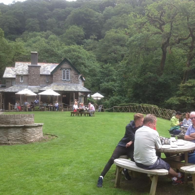 Picnic garden at Watersmeet